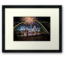 Fireworks from Epcot - Illuminations Reflections of Earth Framed Print