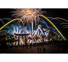 Fireworks from Epcot - Illuminations Reflections of Earth Photographic Print