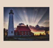Tawas Point Lighthouse Sunset T-Shirt