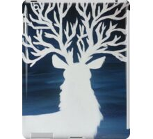 White Stag with Tree Antlers iPad Case/Skin