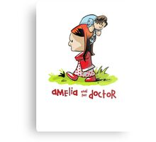 Amelia and the Doctor Metal Print