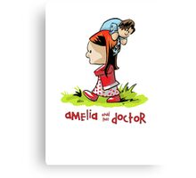 Amelia and the Doctor Canvas Print
