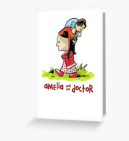 Amelia and the Doctor Greeting Card
