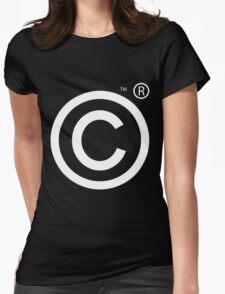 Copyright Symbol Womens Fitted T-Shirt