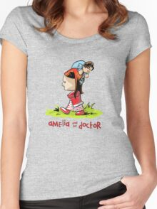 Amelia and the Doctor Women's Fitted Scoop T-Shirt