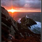 South stack on a cold winters night by Shaun Whiteman