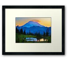 Mount Rainier Goodnight Framed Print