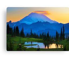 Mount Rainier Goodnight Canvas Print
