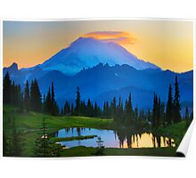 Mount Rainier Goodnight Poster