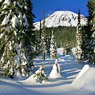 Mount Rainier Winter  by Inge Johnsson