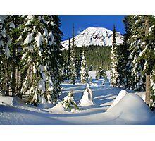 Mount Rainier Winter  Photographic Print