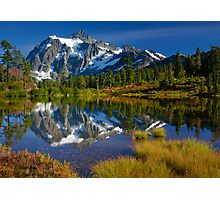 Picture Lake Fall Color Photographic Print