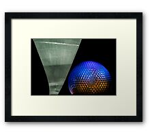 Night at Epcot - Spaceship Earth Framed Print