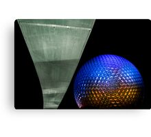 Night at Epcot - Spaceship Earth Canvas Print