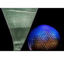Night at Epcot - Spaceship Earth Photographic Print