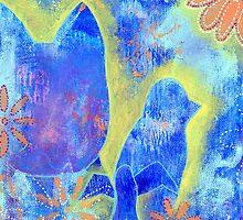 Garden in my heART - Cat & Birds by LovingRd