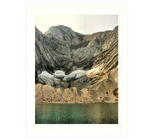 Frozen Lake Art Print