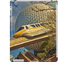 Monorail Passing in front of Spaceship Earth at Epcot iPad Case/Skin