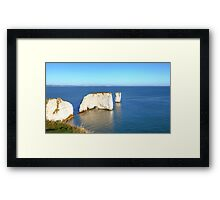 Old Harry Rocks Framed Print