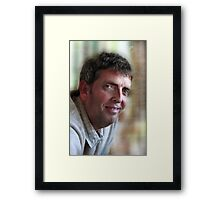 He'll kill me for this! Framed Print