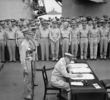 General MacArthur Signing The Japanese Surrender by warishellstore