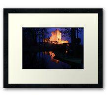 Ross Castle night view Framed Print