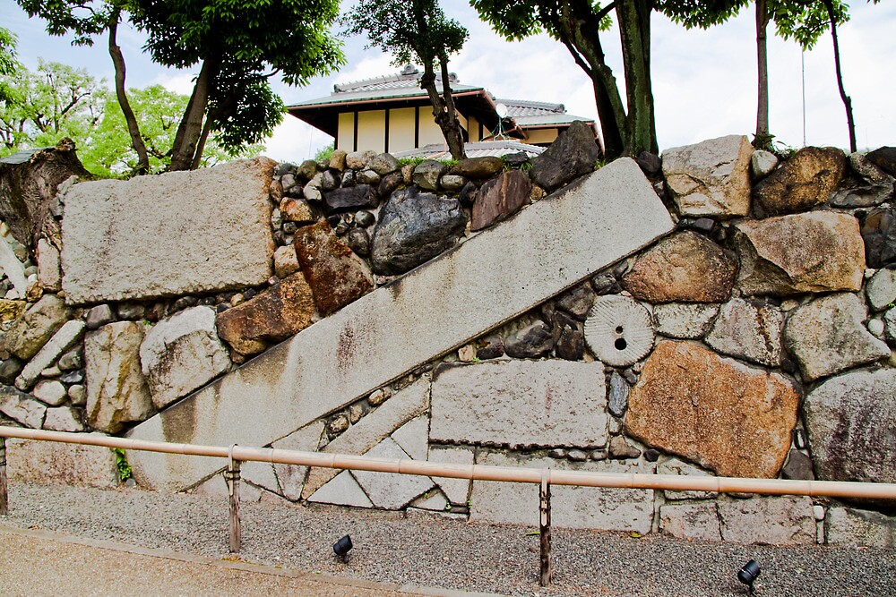 Kyoto garden wall by Bill  Russo