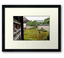 Moss garden, Kyoto Zen temple Framed Print
