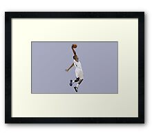 Basketball Jump Framed Print