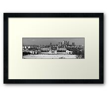 Snow Bound Greenwich Mean Time B/W Framed Print