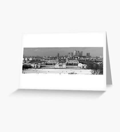 Snow Bound Greenwich Mean Time B/W Greeting Card