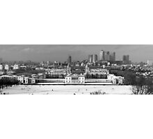 Snow Bound Greenwich Mean Time B/W Photographic Print