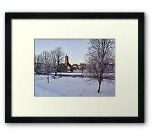 Peebles In Winter Framed Print