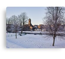 Peebles In Winter Canvas Print