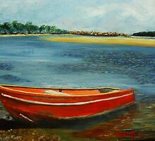 The Red Boat, Nambucca by Estelle O'Brien