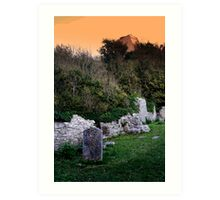 St Andrews Church and Rufus Castle Art Print