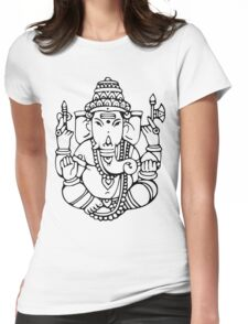 Ganesha 2 Womens Fitted T-Shirt