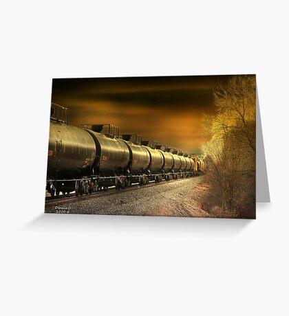 """ Mirrored Tanker "" Greeting Card"
