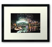 Let There Be Light # 7- Sydney New Years Eve 2009 Framed Print