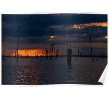 Lake Mulwala Colours, NSW Poster