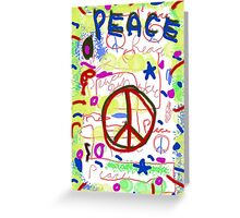 Galaxy Peace Greeting Card