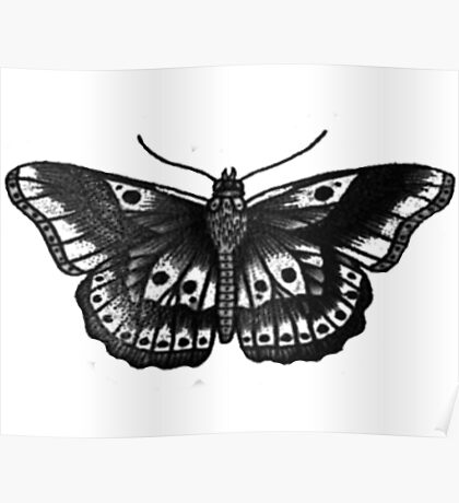Harry Styles Butterfly Tattoo Poster