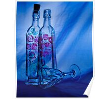 Blue Bottles Poster
