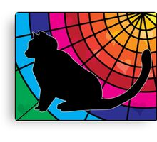 Cat and Stained Glass Canvas Print