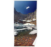 Iceberg Lake in Glacier National Park, Montana Poster