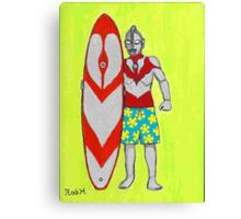 ULTRAMAN goes surfing Canvas Print