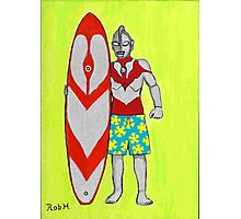ULTRAMAN goes surfing Photographic Print