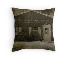 Post Office Throw Pillow