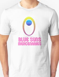 Retro Blue Suns (w/ shadow and text) T-Shirt
