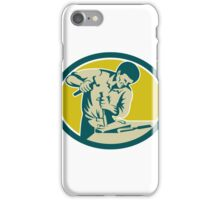 Carpenter Hammer Chisel Chiseling Retro iPhone Case/Skin